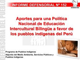 Aportes para una política nacional de educación intercultural