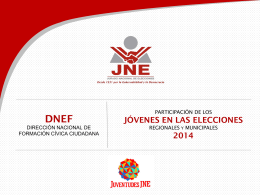Presentación de PowerPoint - Secretaría Nacional de la Juventud