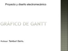 Presentación diagrama de Gantt
