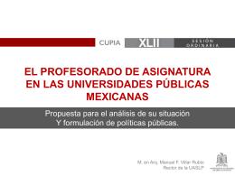 El profesorado de asignatura en las universidades públicas