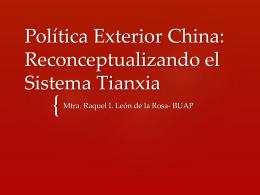 Política Exterior China: Reconceptualizando el - red alc