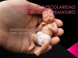 aprendizaje y escolaridad del niño prematuro