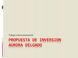 PROPUESTA DE INVERSION - diseñar e implementar herramienta