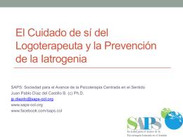 El Logoterapeuta y la prevención de la iatrogenia