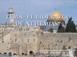 El_liderazgo de Nehemias