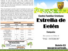 Paz interior boletin 3 - CFC Estrella de Belen