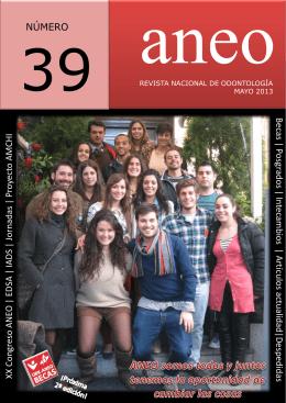 Nº 39 REVISTA ANEO Descárgate ya el último número de