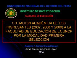 ARAUCO, LOPEZ, Jorge - Facultad de Educación