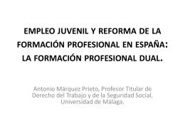 empleo juvenil formación profesional