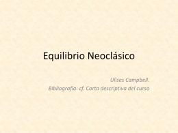 Seminario de Teoría Económica Contemporánea. Ulises Campbell