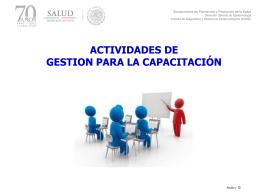 2. Capacitación en servicio - Dirección General de Epidemiología