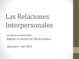 La comunicación y las relaciones interpersonales