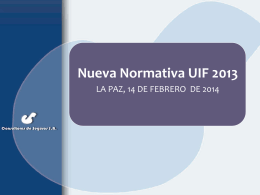 Nueva Normativa UIF 2013