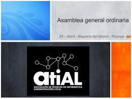 Presentación Asamblea General ATIAL