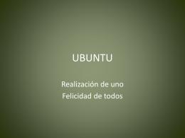 Sudáfrica Ubuntu