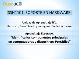 6.- Identifica los componentes principales en computadores y