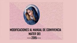 Presentación de PowerPoint - Fundación Educacional Mater Dei