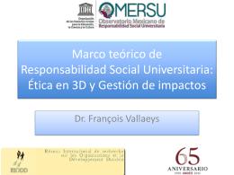 Marco teórico de la Responsabilidad Social: Ética en 3D y
