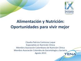Alimentación y Nutrición: Oportunidades para vivir mejor