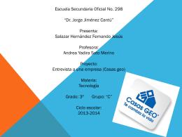Entrevista Casas Geo Tecnologia - Over-blog