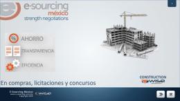 construction - E-Sourcing México
