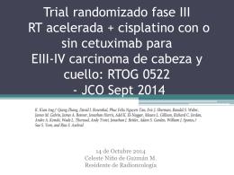 Trial randomizado fase III RT acelerada más cisplatino con o sin