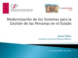 Modernización de los Sistemas para la Gestión de las Personas en