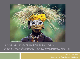 variabilidad transcultural de la organización social de la conducta