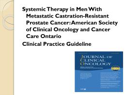 Terapia sistemica en cancer de Prostata resistente a la castracion