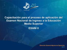 CIFAC presentación Exani II mayo 2015
