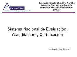 Sistema Nacional de Evaluación, Acreditación y Certificación