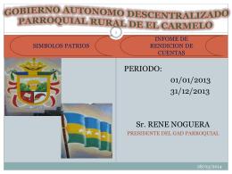 informe rendicion de cuentas 2013 - Bienvenidos a la Parroquia de