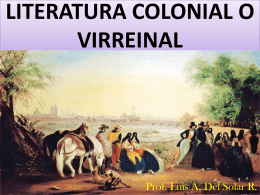 literatura colonial o virreinal