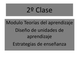2º Clase teorías