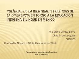 Política de la Diferencia - Centro Regional de Formación Docente e