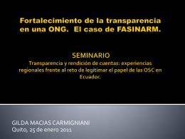 Gilda Macias Carmigniani - Centro Virtual para la transparencia y la