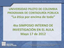 Memorias IV Simposio - Universidad Piloto de Colombia