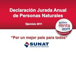 Declaración Jurada Anual de Personas Naturales