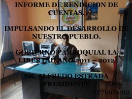 iNFORME RENDICION DE CUENTAS - Bienvenidos a la Parroquia