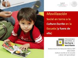 PNLE Movilización Social - Programa Nacional de Lectura