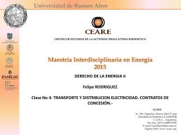 CLASE 4 DERECHO DE LA ENERGIA II T y D