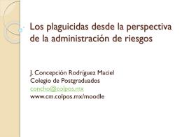 Los plaguicidas desde la perspectiva de la administración de riesgos