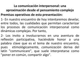 La comunicación interpersonal: una aproximación desde el