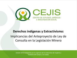 Derechos indígenas y Extractivismo - CEJIS