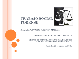 lic. MARCON 2013 - Diplomatura Pericias Judiciales