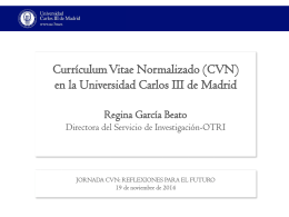 Presentación UCIII - CVN