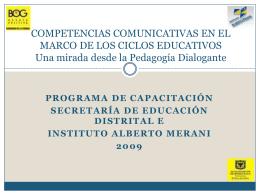 COMPETENCIAS COMUNICATIVAS EN EL MARCO DE LOS