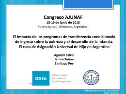 El Impacto de los programas de transferencia Condicionada