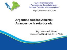 Argentina Acceso Abierto: Avances de la ruta