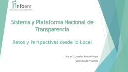 Retos y Perspectivas desde lo Local